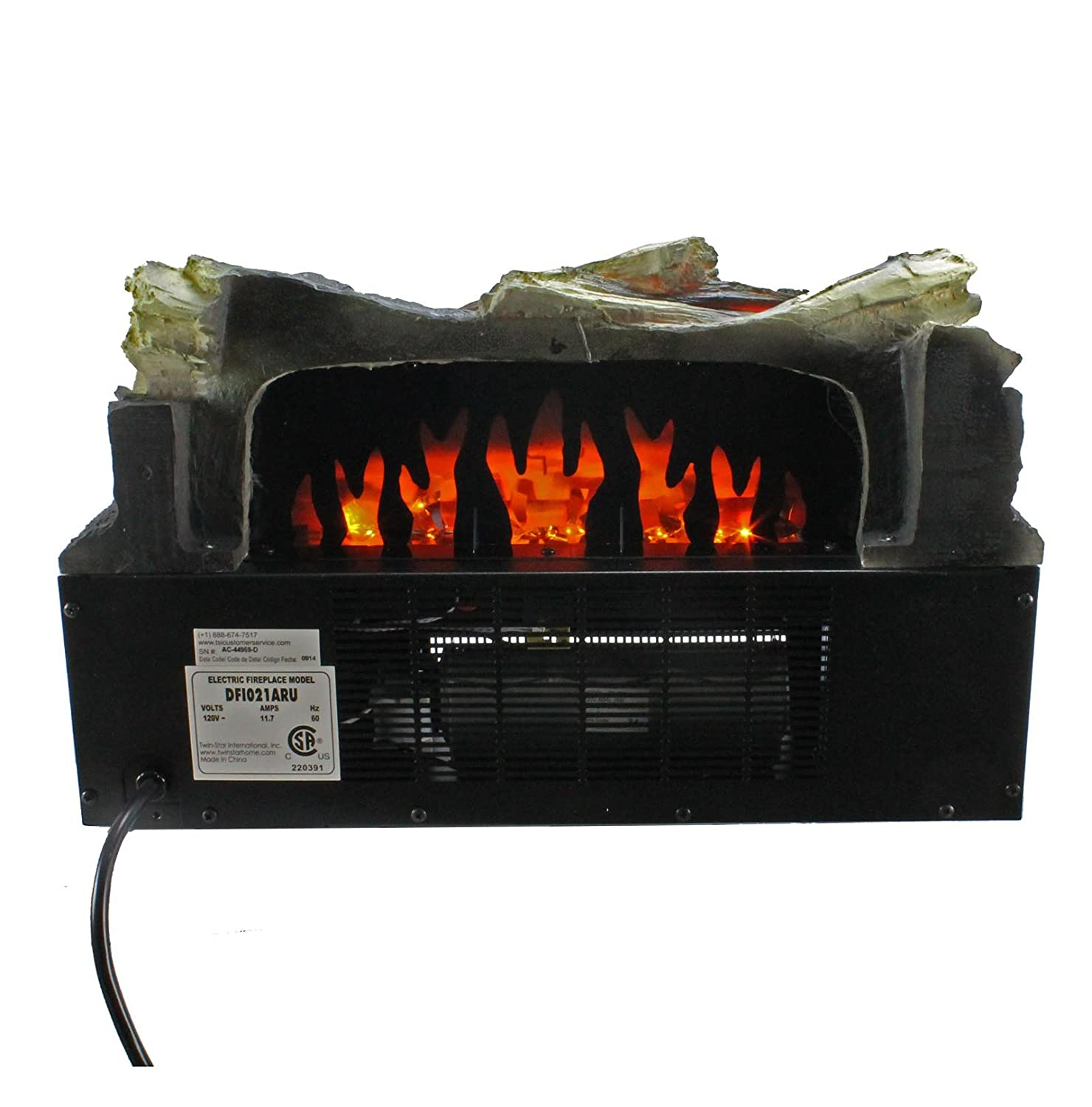 amazon com duraflame dfi021aru 03 electric log set heater with
