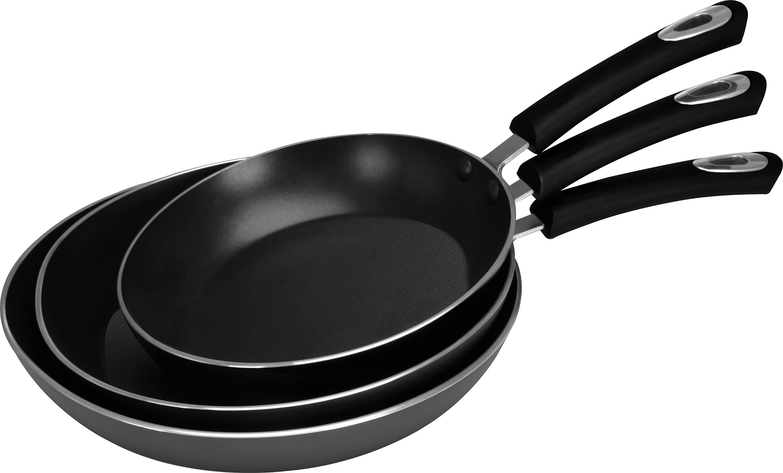 Utopia Kitchen Nonstick Frying Pan Set - 3 Piece Induction Bottom - 8 Inch, 9.5 Inch and 11 Inch by Utopia Kitchen (Image #2)