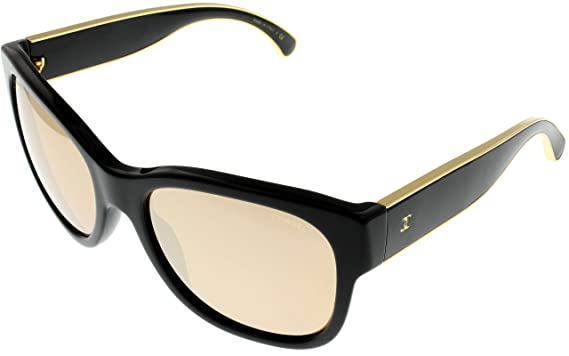 chanel sunglasses  Amazon.com: Chanel Sunglasses Womens Black/Gold Wayfarer CH5270 ...