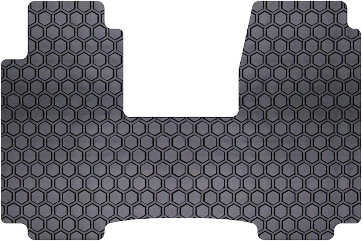 Intro-Tech Hexomat Front Row Custom Fit Floor Mat for Select Dodge Grand Caravan Models Clear Rubber-Like Compound