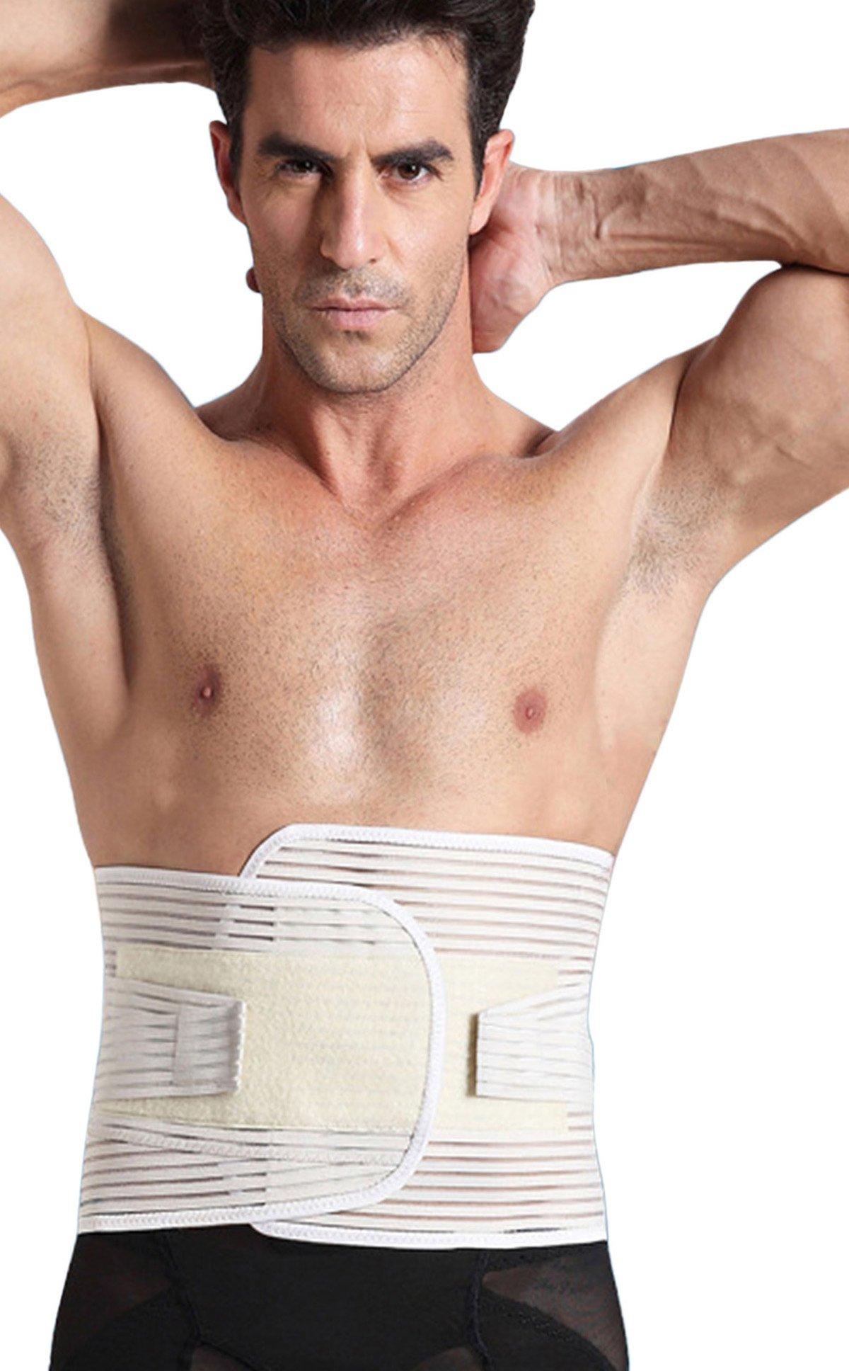 Panegy Adjustable Velcro Back Tummy Brace Compression Support Belt Shapewear Size XX-Large Skin
