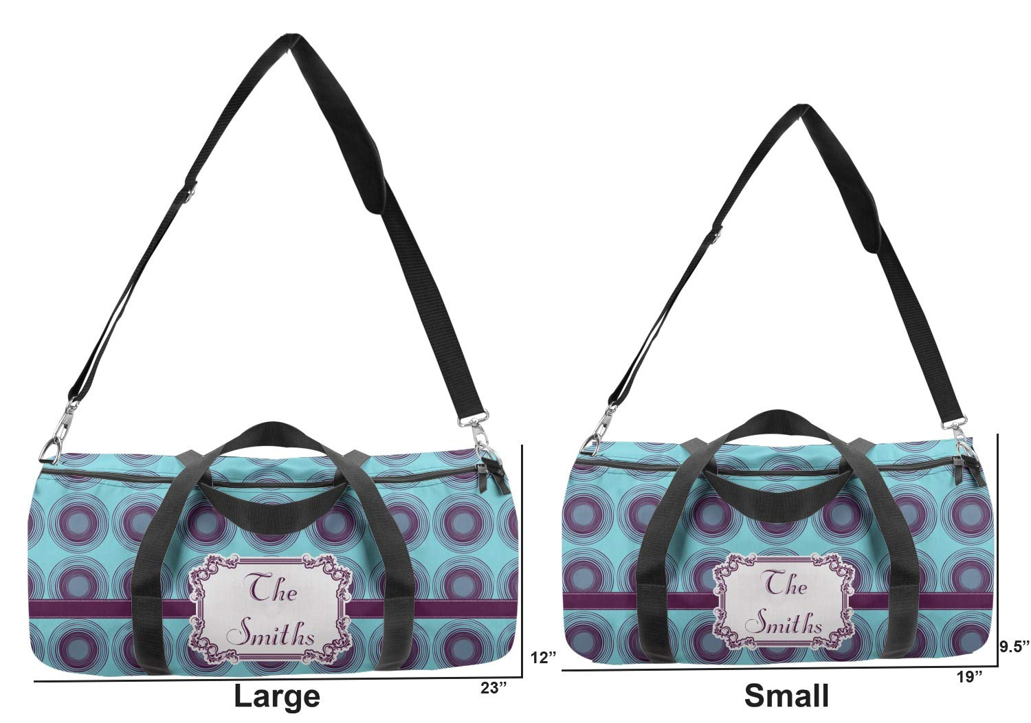 Multiple Sizes YouCustomizeIt Concentric Circles Duffel Bag Personalized