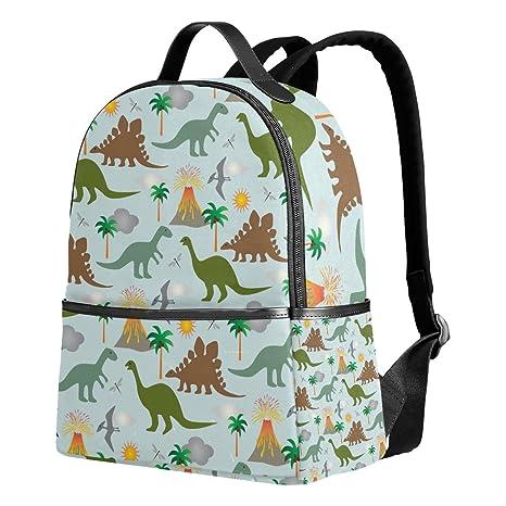 deyya dinosaurios y volcanes niños mochilas escolares para niños niñas bookbags de los niños regalo