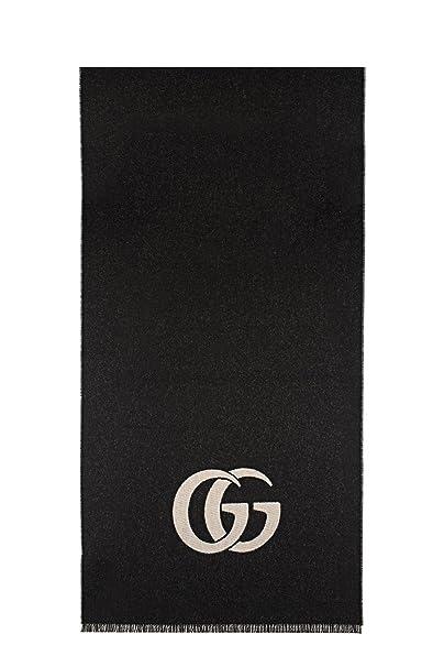 tessuti pregiati genuino rapporto qualità-prezzo Gucci Sciarpa Uomo 4523884G2001078 Lana Grigio/Nero: Amazon ...