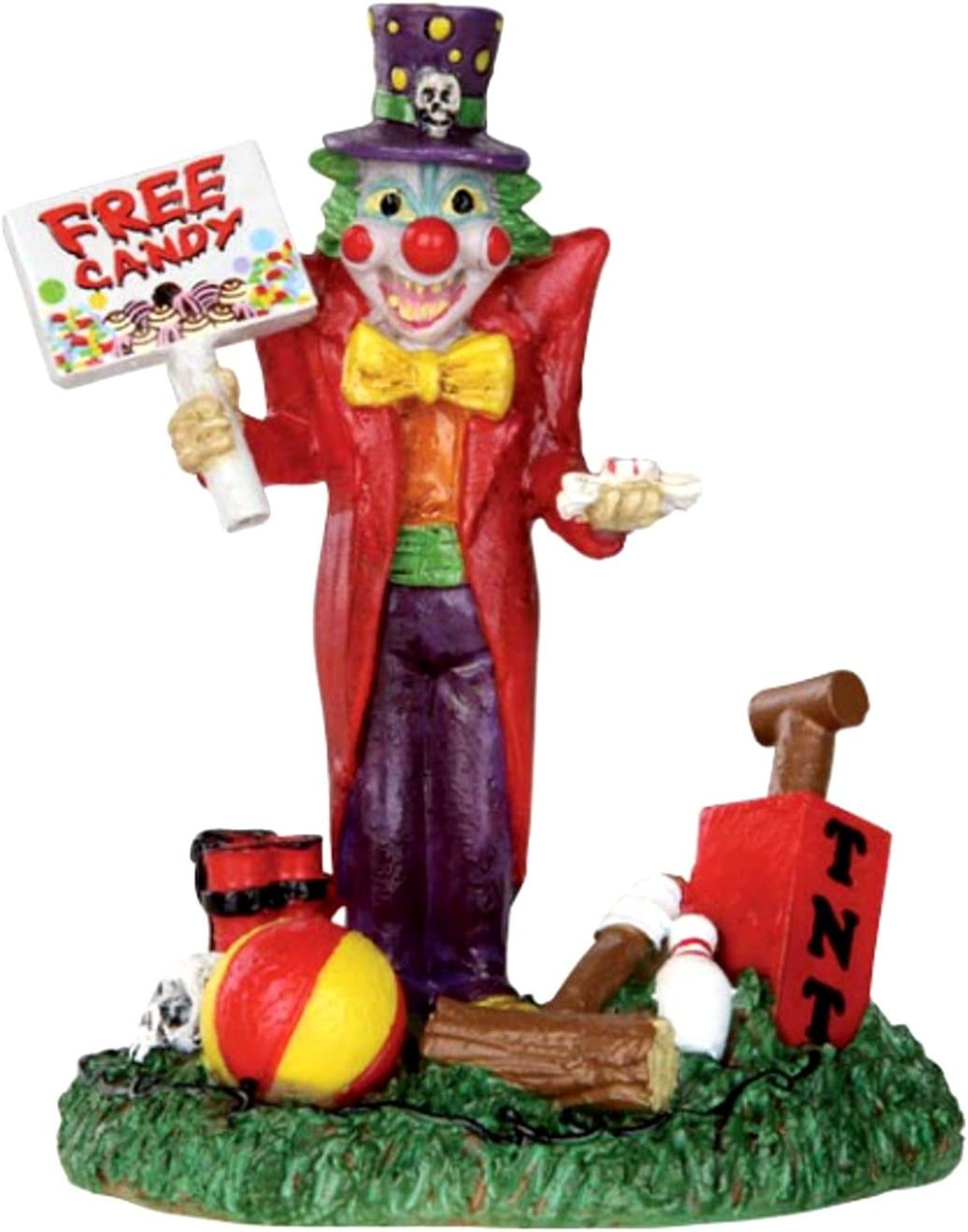 Lemax 32102 Free Candy Clown Spooky Town Figure Halloween Decor Figurine