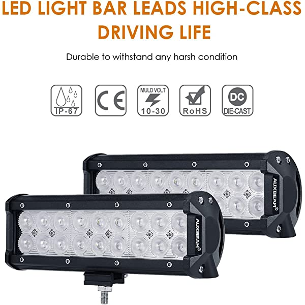 12 Inch 72W Led Work Light Bar Flood Spot Suv Driving Bullbar Lamp Polaris Truck