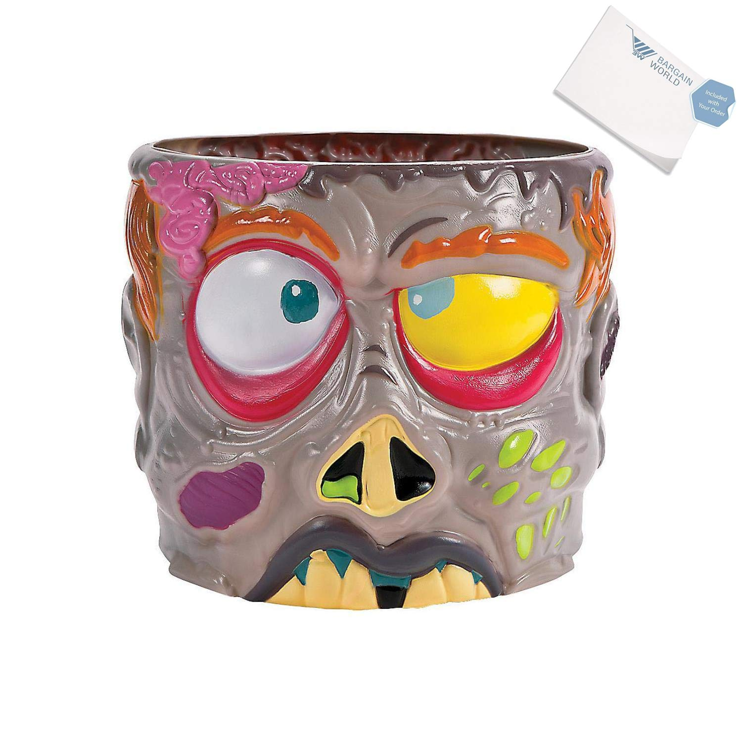 Bargain World Plastic Zombie Punch Bowl (With Sticky Notes)
