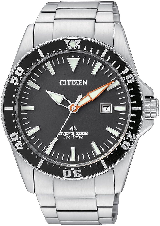 Citizen BN0100-51E - Reloj analógico de Cuarzo para Hombre, Correa de Acero Inoxidable Multicolor