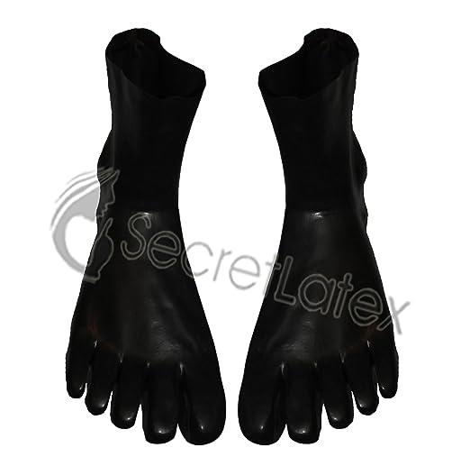 Black Latex Gum Shiny Starke Toe Ankle Füße Paar Socken Gummifuß Erwachsene Fetisch Puppenkörper (L-Large)