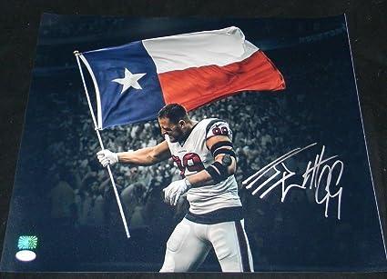 Autographed Jj Watt Signed Houston Texans Texas Flag Spotlight 16x20 Photo  - JSA Certified 2f83f5d77
