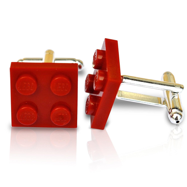 LEGO® Teller Manschettenknöpfe (Dark Red) Hochzeit, Groom, Herren Geschenk SJP Cufflinks 1