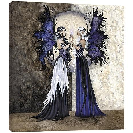 amazon com tree free greetings two sisters fairies ecoart wall