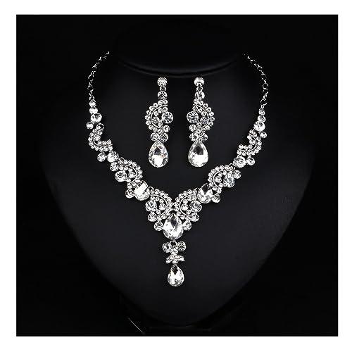 Hamer Costume jewelry Fashion Crystal Choker Pendant Statement Chain Charm Necklace and Earrings Sets Women (  sc 1 st  Amazon.com & Amazon.com: Hamer Costume jewelry Fashion Crystal Choker Pendant ...