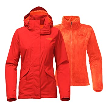 The North Face Women s Boundary Triclimate Jacket - Fire Brick Red - XS  (Past Season 3dd878aec