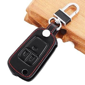 Funda llavero para llave mando de coche, 3D tipo cartera, adecuada para llave de Chevrolet Cruze, Aveo, Sail, Trax, Malibu y Captiva