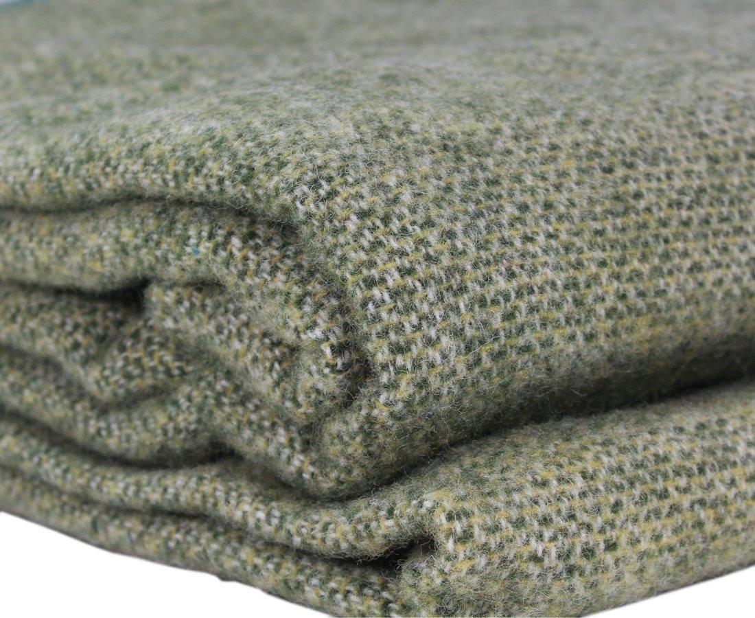 Kerry Woollen Mills Irish Wool Blanket, Lichen Green