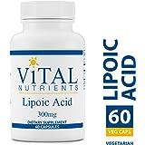 Vital Nutrients - Lipoic Acid 300 mg - Multi-Purpose Nutrient and Powerful Antioxidant - 60 Vegetarian Capsules