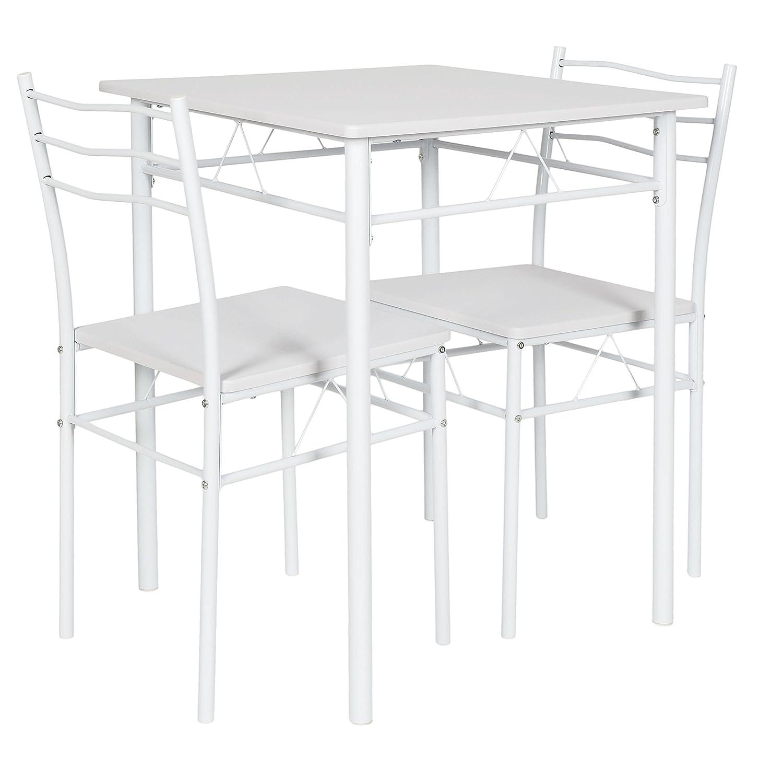 ts-ideen 3er Set Essgruppe Tisch Stühle Esstisch Küchentisch ...