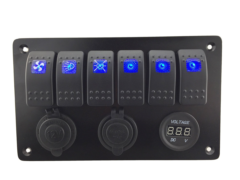 IZTOSS Boat Marine Instrument Switch Circuit Panel Decal Sticker Labels 50pcs one sheet