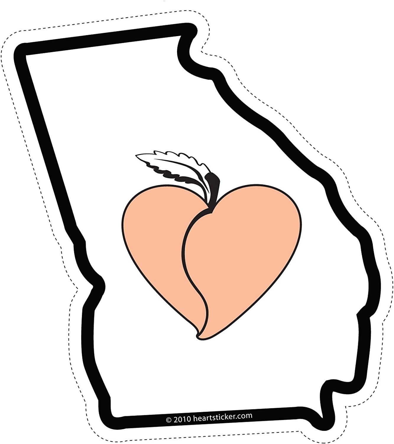 Georgia Sticker Peach State Shaped Decal Apply To Water Bottle Laptop Cooler Car Truck Bumper Tumbler 404 Roots Atlanta Sticker Peachtree Decal