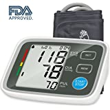 Urion Upper Arm Blood Pressure Monitor with Automatic Digital Blood Pressure Cuff 8.7 To 12.6 Inch 2 User Mode