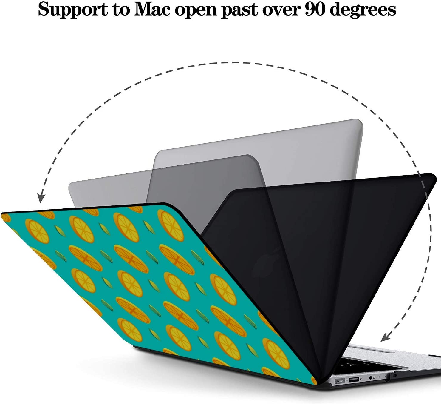 MacBook Pro 15 Case Summer Fashion Flower Fruit Lemon Plastic Hard Shell Compatible Mac Air 11 Pro 13 15 Mac Book Case Protection for MacBook 2016-2019 Version