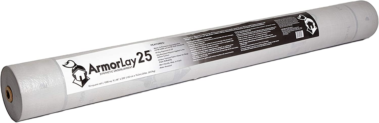ArmorLay 25 Synthetic Roof Underlayment 4' x 250'