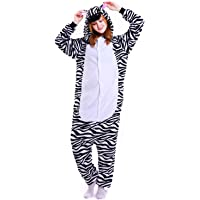 bb9a2f6320 Unisex Womens Onsies Pajamas Unicorn Animal Soft Fleece Flannel All in One  Jumpsuit Party Costume