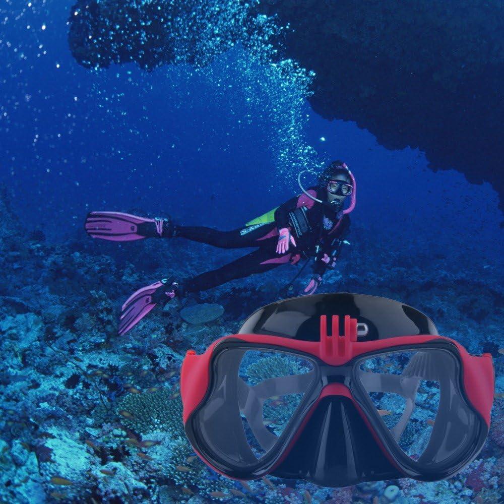 3 + 2 Snorkeling set con Buceo y snorkel M/áscara de buceo para Submarinismo y Snorkel Compatible con Gopro hero 1 SJ c/ámaras xiaomi