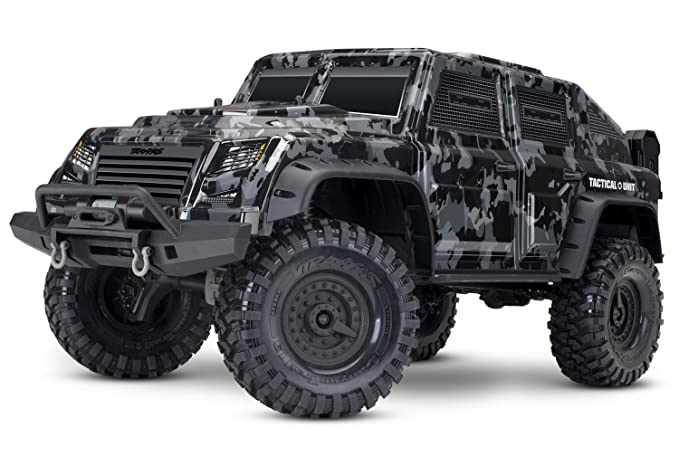 Traxxas 82066-4 1/10 Scale TRX-4 Tactical Unit RC Crawler with 2 4 Ghz TQI  Radio Toy