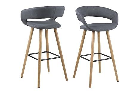 Ac design furniture jack sgabello in tessuto con struttura in legno