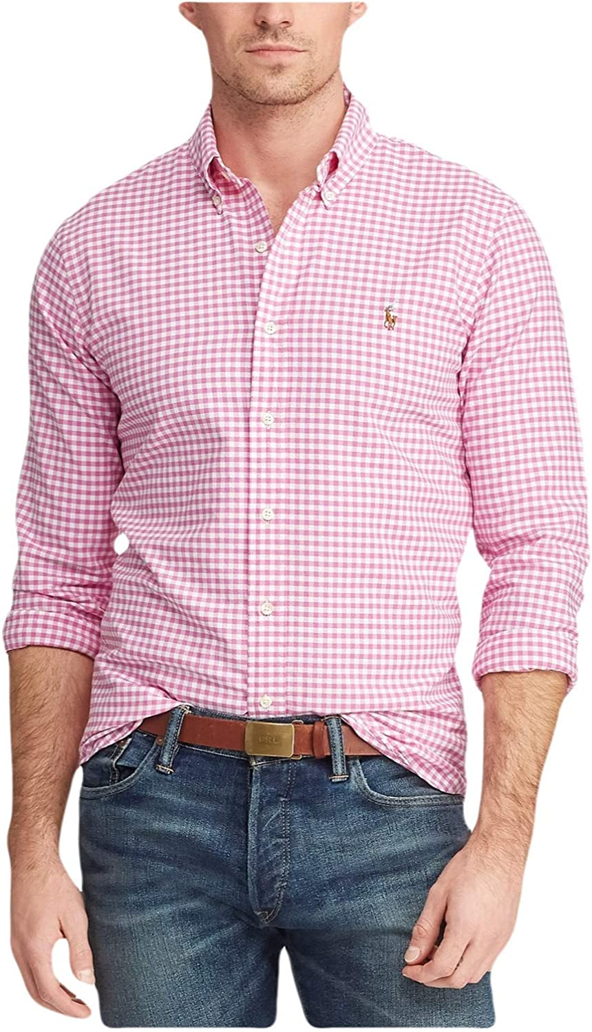 Ralph Lauren Mens Logo Plaid Button-Down Shirt