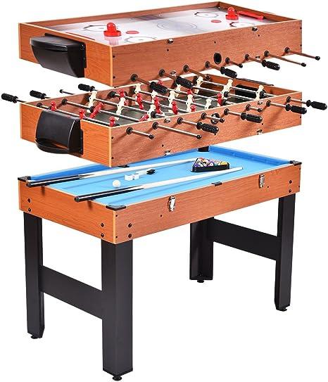 3 en 1 Familia Interior Deporte Multi Combo futbolín fútbol mesa de juego Hockey billar Easy Convert: Amazon.es: Deportes y aire libre