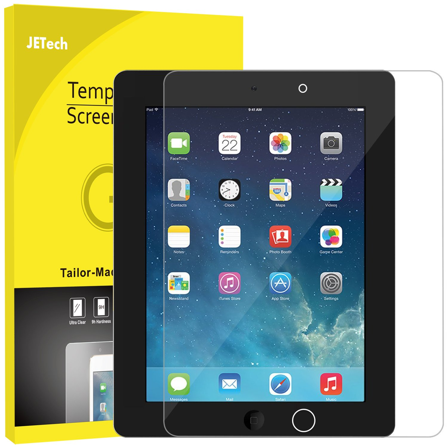 JETech Screen Protector for iPad 2 3 4 (Oldest Version), Tempered Glass Film 0337-SP-IPAD234-GLASS