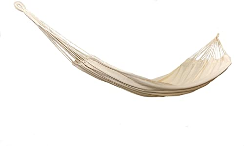 Nanalou Authentic Brazilian Hammock, 100 Cotton, Made in Brazil Double, Natural