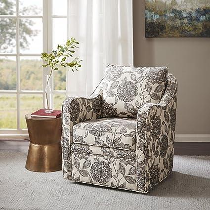 Brianne Slub Weave Wide Seat Swivel Arm Chair Multi See Below
