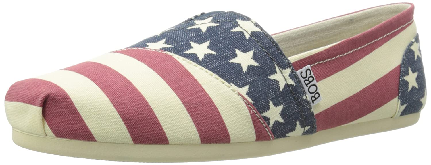 Skechers BOBS from Women's Plush Lil Americana Flat B00N119JRK 9.5 B(M) US|Red/Multi