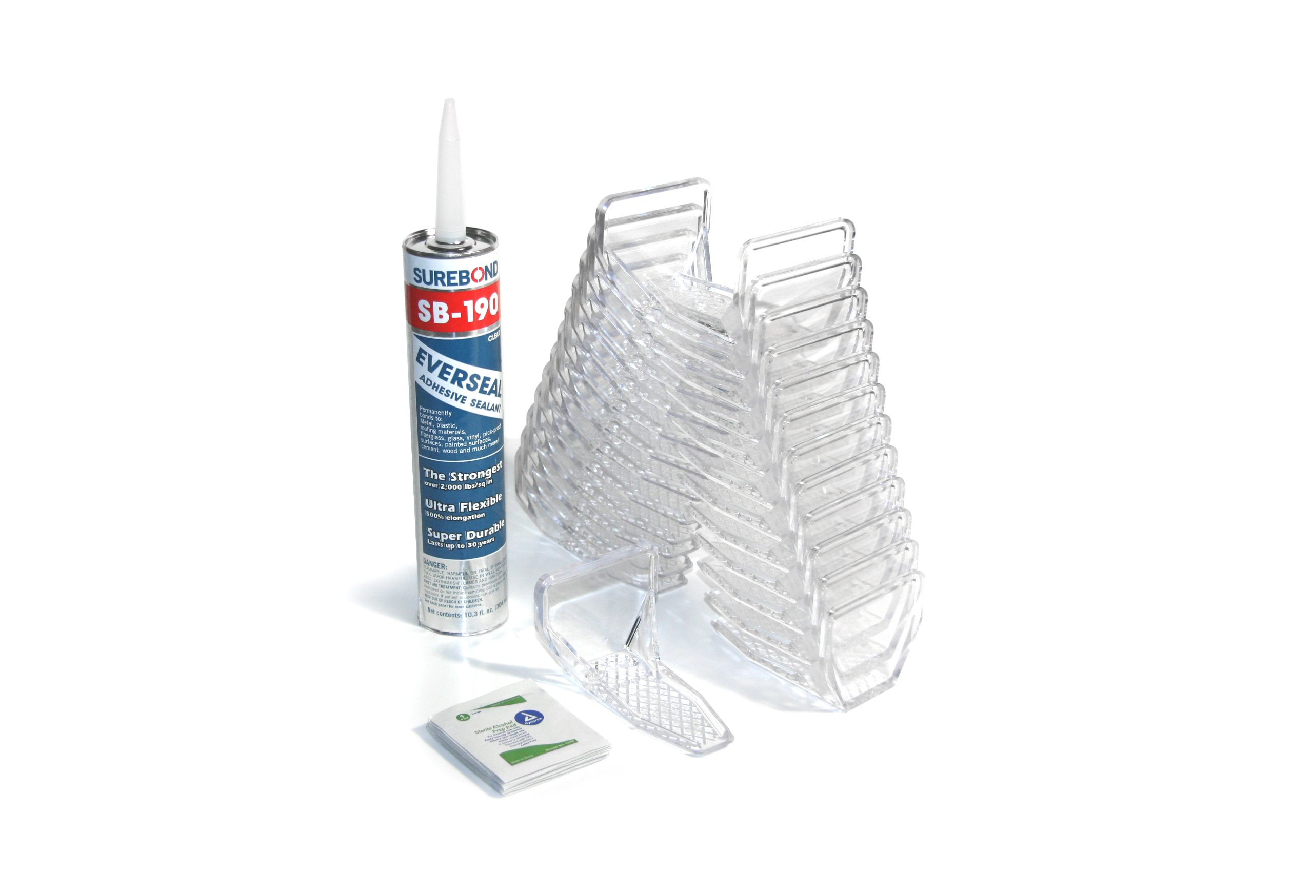SnoBlox Deuce 25pc Snow Guards & Adhesive Kit for Metal Steel Stand Seam Roof