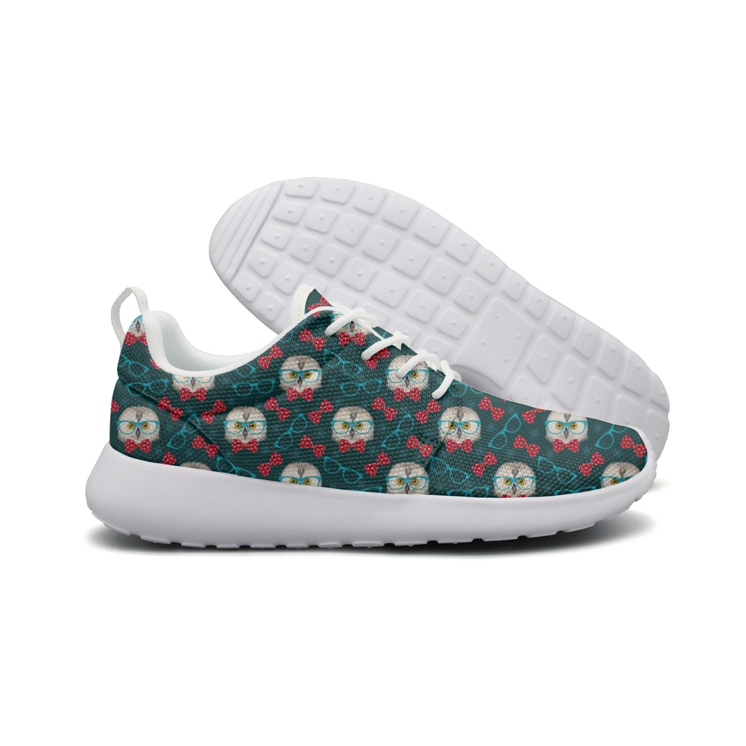 ERSER Owl With Glasses Womans Neutral Casual Running Shoes Jogger Mini