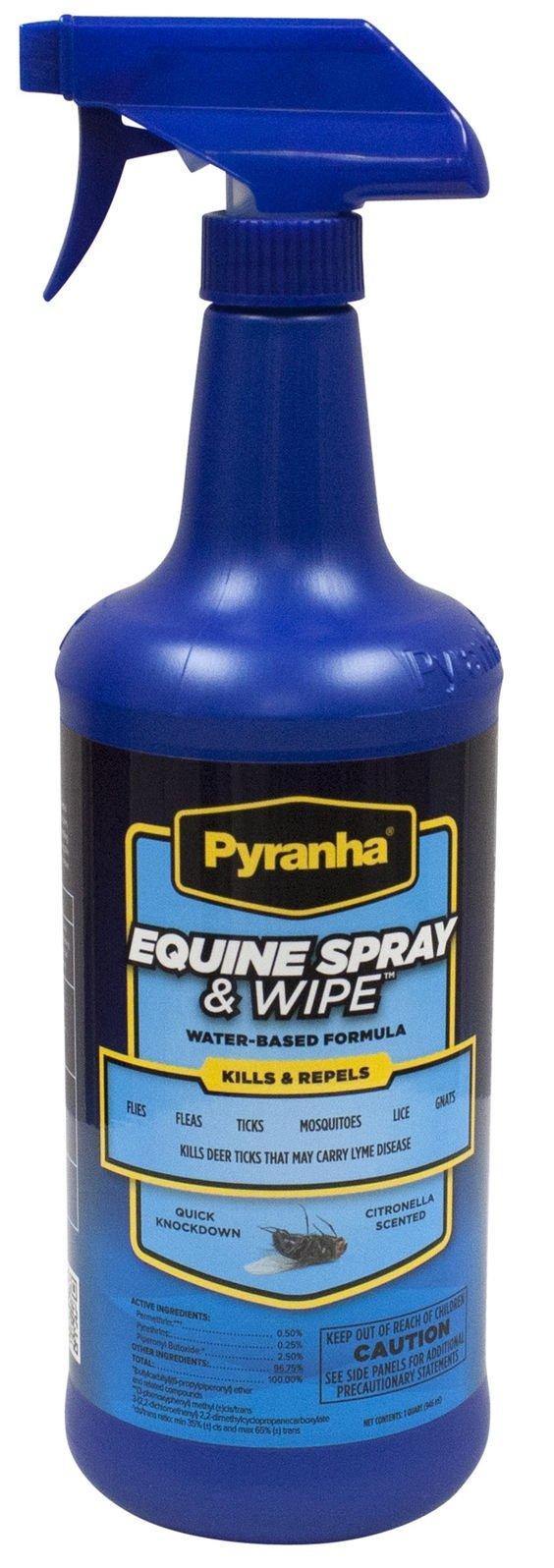 Pyranha Spray N Wipe Fly Spray, 1 Qt