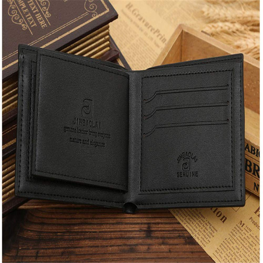 Botrong Bifold Wallet Men Leather Credit//ID Card Holder Purse Mini Wallet