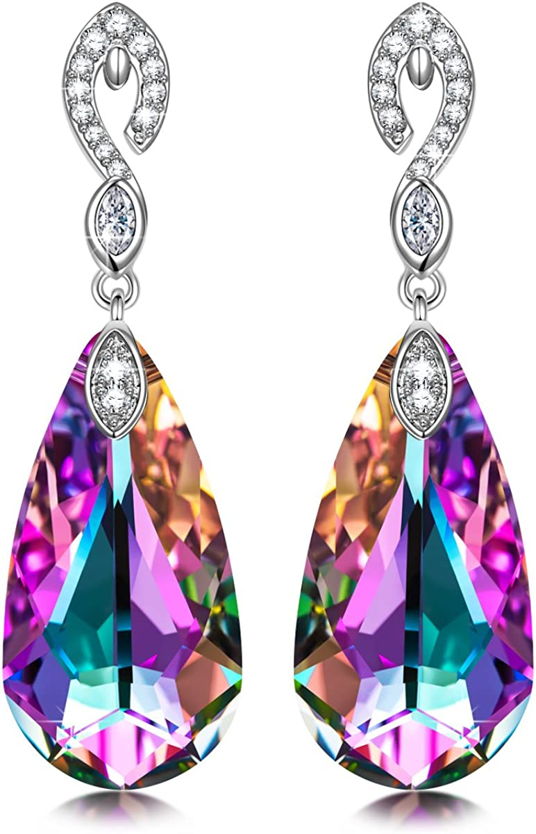 Kate Lynn Earrings for Women ?Mermaid Tears? Teardrop Dangle Earrings Made with Swarovski Crystals Jewelry Gifts for Her with Gift Box