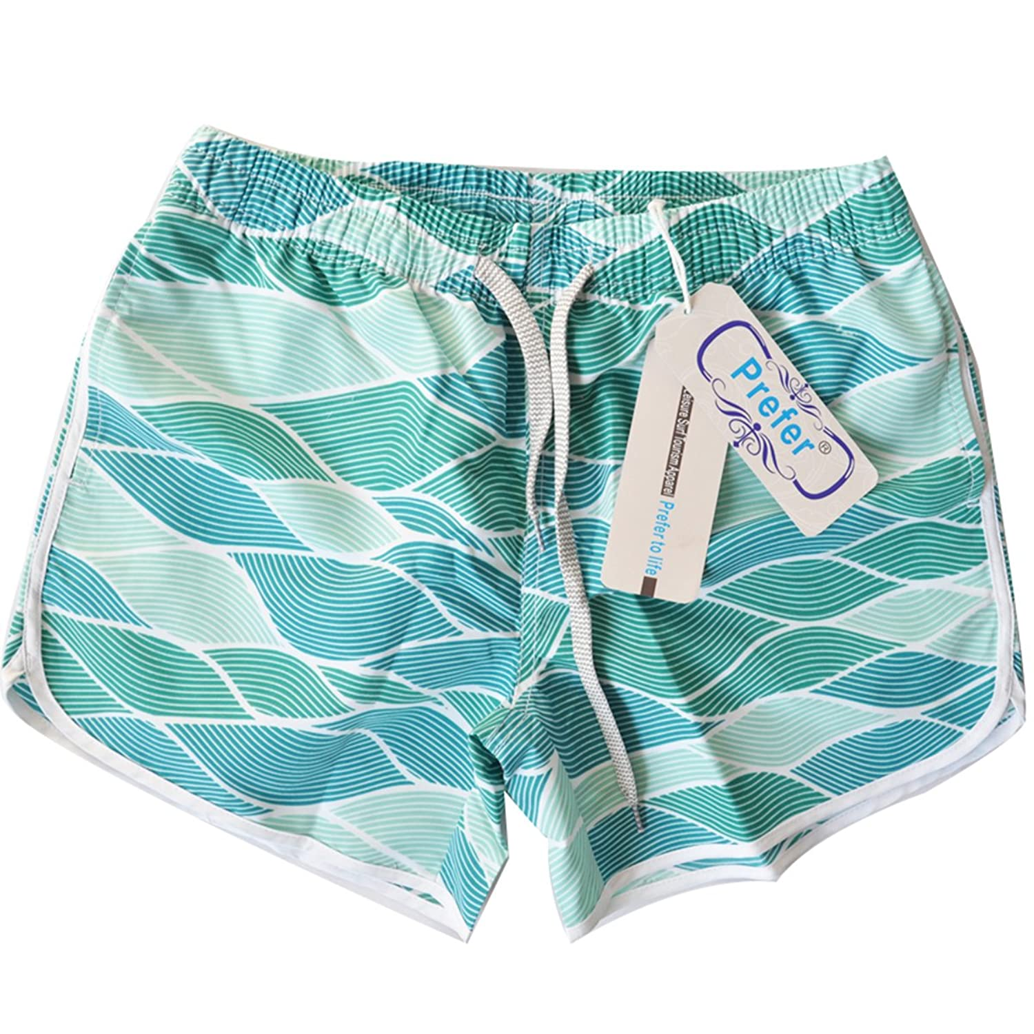2d945eea2d Colorful art prints-Perfect color display-firm color not fade. Drawstring  fix with elastic waistband shorts closure. SIZE NOTE: These board shorts  Swim ...