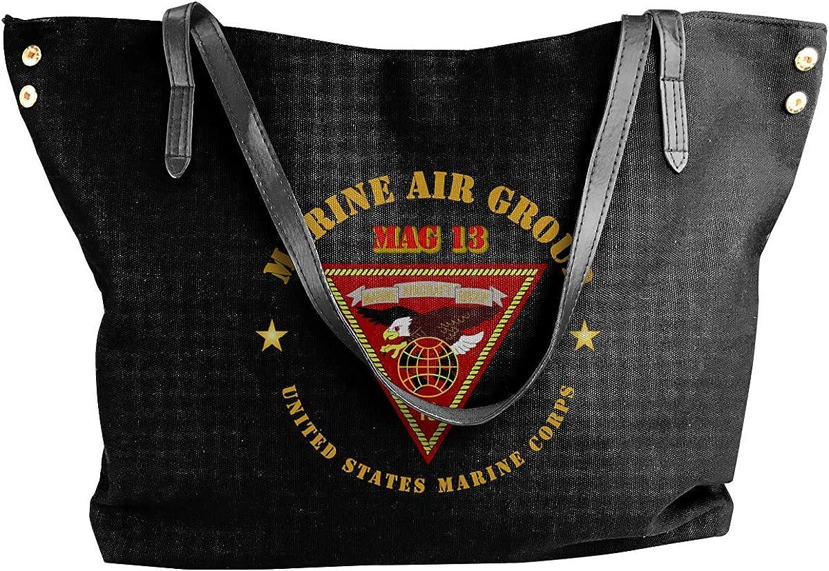 Marine Air Group Mag 13 Womens Tote Bags Canvas Shoulder Bag Casual Handbags