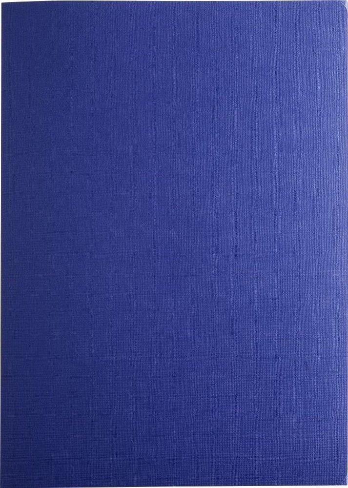 Exacompta 49207B Bewerbungsmappe Prestige (3-teilig mit 2 Klemmschienen Kapazität 30 Blatt aus Manila-Leinen-Karton, 400 g, DIN A4, 21 x 29,7 cm) dunkelblau ExaClair - Exacompta Exaclair GmbH 3130630492078