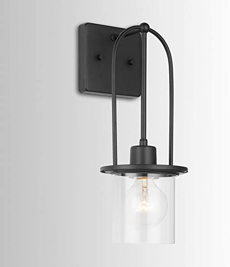 Austin Allen Co 9d335a 15 75 One Light Wall Sconce Matte Black Finish With Clear Glass Amazon Com