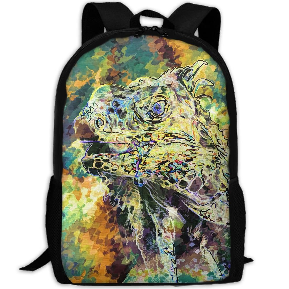 CY-STORE Lizard Abstract Colorful Print Custom Casual School Bag Backpack Travel Daypack Gifts
