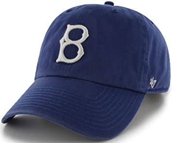 11cfa45d56c0a Brooklyn Dodgers 47 Brand MLB Cooperstown Clean Up Adjustable Hat   Amazon.co.uk  Sports   Outdoors