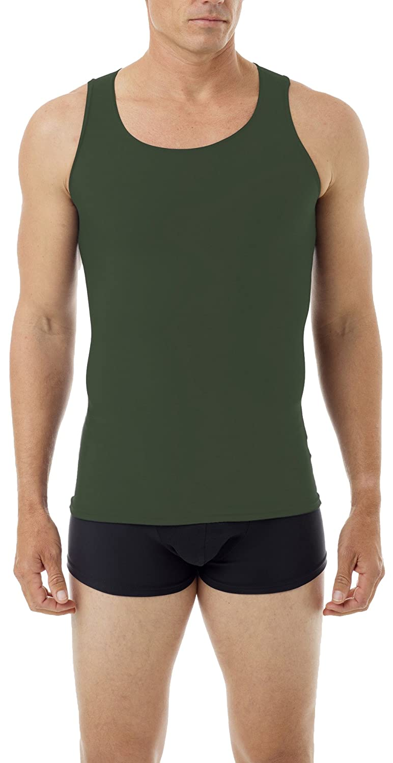 Mens Control Fit Stretch Cotton Comfort Concealer Tank Top Underwear For Gents