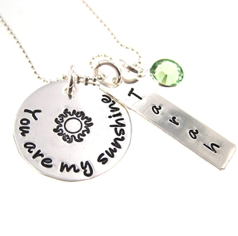 Handmade Products Pendant You are My Sunshine Sterling Silver ...